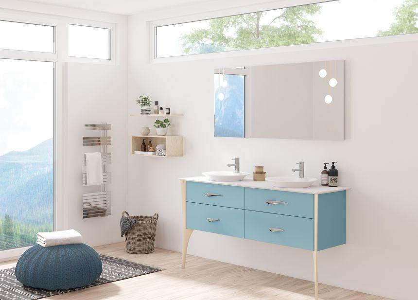 Tendance : le retour du meuble salle de bain en bois